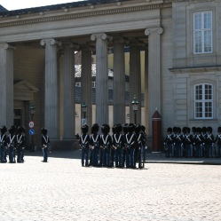 Change of guard in Amalienborg